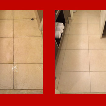 View the before and after photos of the tile cleaned by Atlantic Coast Carpet Cleaning
